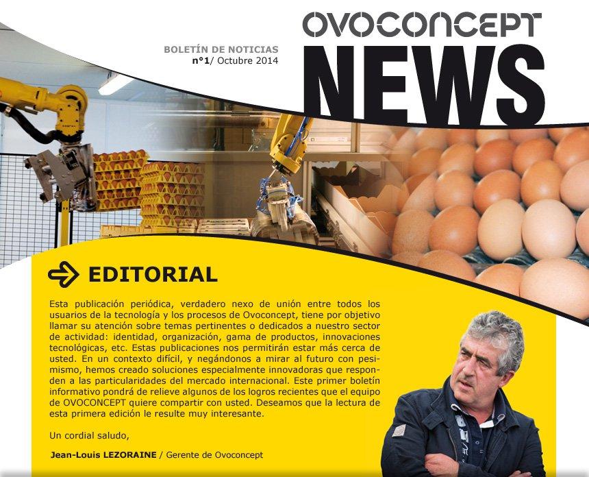 Ovoconcept news - n°1 - Octubre 2014