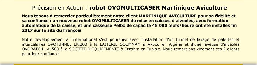 Précision en Action : robot OVOMULTICASER Martinique Aviculture