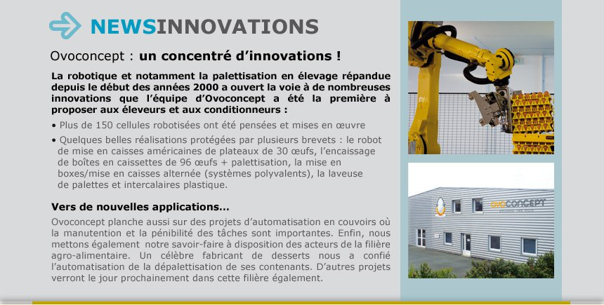 Ovoconcept : un concentré d'innovations !