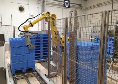 Automatisation en sortie laveuses